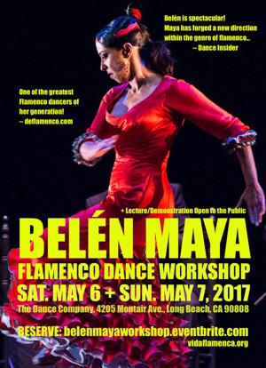 Belen Maya to Host Flamenco Dance Workshops in Santa Barbara, Long Beach