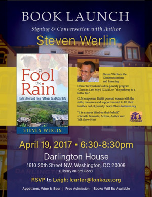 Book Launch Event and Signing with Steven Werlin Announcd For New Book TO FOOL THE RAIN