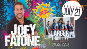 *NSYNC's Joey Fatone and the Ultimate Boy Band Tribute Show LARGER THAN LIFE Team Up for '90s Night