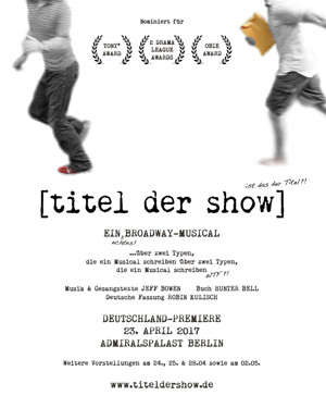 German Premiere of [title of show] to Open in April