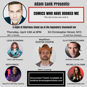 Adam Sank Presents COMICS WHO BOOKED ME at the Stonewall Inn