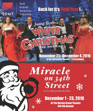 San Diego Musical Theatre Announces Cast and Creative Teams for WHITE CHRISTMAS and MIRACLE ON 34TH STREET — A LIVE MUSICAL RADIO PLAY