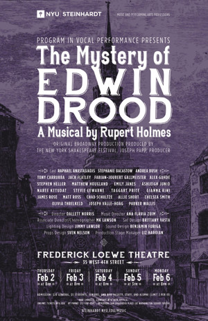 NYU Steinhardt to Begin February with THE MYSTERY OF EDWIN DROOD