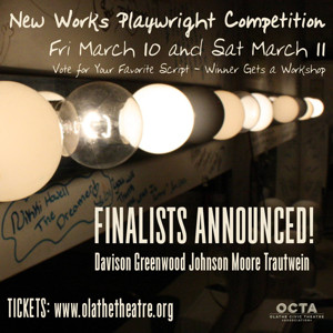 Five Finalists Advance in OCTA's New Works Playwright Competition