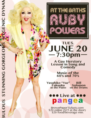 Ruby Powers to Present Drag Homage to Bette Midler in 'AT THE BATHS' at Pangea