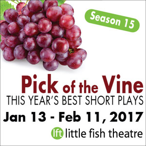 Short Play Festival PICK OF THE VINE to Open This Winter at Little Fish Theatre