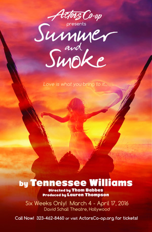 Actors Co-Op to Present Tennessee Williams' SUMMER AND SMOKE, 3/2-4/17
