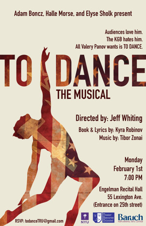 TO DANCE, A New Musical to Get Staged Reading