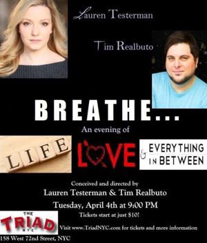 Lauren Testerman and Tim Realbuto to Present Benefit ConcertBREATHE