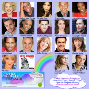 Complete Cast Announced for (mostly)musicals: *in dreams* at E Spot Lounge