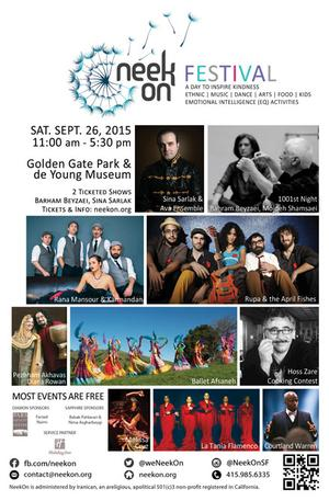 NeekOn to Celebrate Iranian & Persian Communities with Music, Dance, Art and More, 9/26