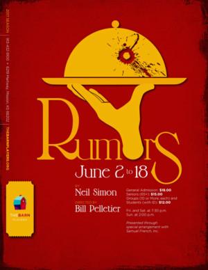 Neil Simon's RUMORS Comes to the Barn Players