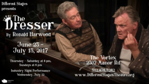 Diffe Stages Closes Season With Ronald Harwood S The Dresser