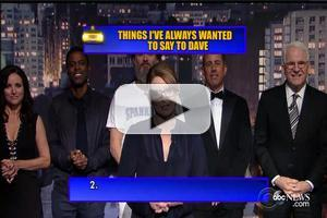 VIDEO: All-Star Top 10 List & More Highlights from LETTERMAN Finale