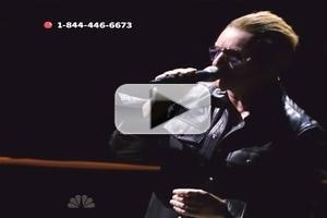 VIDEO: U2 Performs 'Song For Someone' on NBC's RED NOSE DAY