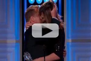VIDEO: Watch James Corden & Allison Janney's Critics' Choice Make Out Kiss!
