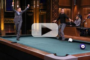 VIDEO: Jude Law Plays Pool Bowling; Reveals Musical Theater Background on TONIGHT