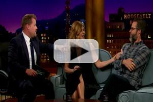 VIDEO: Guy Pierce & Connie Britton Visit JAMES CORDEN