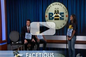 VIDEO: JIMMY KIMMEL Takes on National Spelling Bee Co-Champions