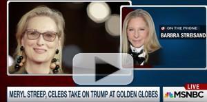 VIDEO: Barbra Streisand Praises Meryl Streep's Speech: 'I Was Very Proud of Her'