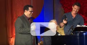 STAGE TUBE: My What a Group of Guys! Josh Gad, Alan Menken, and Luke Evans Perform 'Gaston'