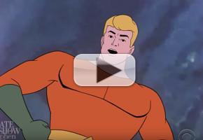 VIDEO: Aquaman Applauds Trump's Paris Agreement Decision on LATE SHOW
