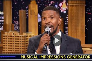 VIDEO: Watch Jamie Foxx Channel Jennifer Hudson, LION KING & More on 'Tonight'