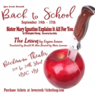 Love Creek Productions Presents BACK TO SCHOOL Two One Act Plays to Round Out Your Ed Photo