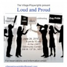 Village Playwrights to Present LOUD & PROUD Readings Tomorrow