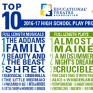 THE ADDAMS FAMILY, ALMOST, MAINE Are Most-Produced High School Shows for 2016-17