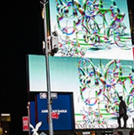 Lattice Domain Turns Times Square Psychedelic Photo