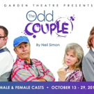 Local Acting Elite Star in Neil Simon's THE ODD COUPLE at Garden Theatre