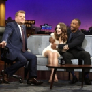 VIDEO: Lily Collins Gives Anthony Mackie & James Eyebrow Access on LATE LATE SHOW