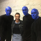 Photo Flash: Alyssa Milano Visits BLUE MAN GROUP in NYC