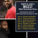 ESPN & ABC Combine for Biggest NBA Regular-Season Schedule Ever