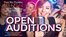 Paper Mill Playhouse Holding Open Auditions for Broadway Show Choir This Fall