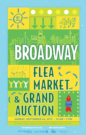 Wallets at the Ready- Today is the Broadway Flea Market & Grand Auction!