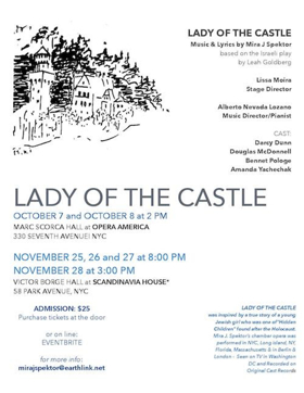 Mira J. Spektor's LADY OF THE CASTLE Comes to Opera America Today