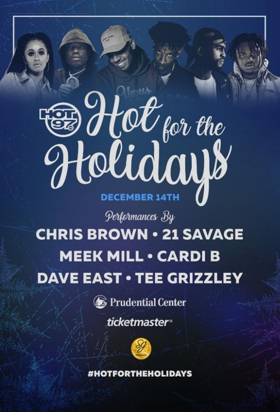 Chris Brown and More Set for HOT 97's HOT FOR THE HOLIDAYS at Prudential Center
