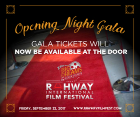 2017 Rahway International Film Festival to Host Opening Gala This Today