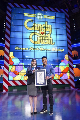 Guinness World Records Presents CBS's CANDY CRUSH with Record for 'Largest Touch-Screen Display'