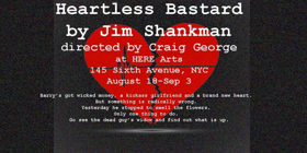 Jim Shankman's HEARTLESS BASTARD to Make World Premiere at HERE Arts Center