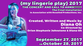 Tickets on Sale Now for {MY LINGERIE PLAY} at Rattlestick Playwrights Theater
