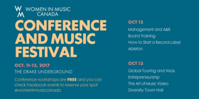 Women in Music Canada Conference and Music Festival Hits Toronto this Week