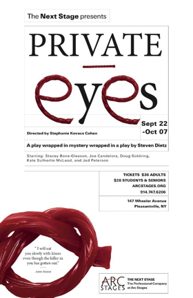 Arc Stages to Present PRIVATE EYES by Steven Dietz