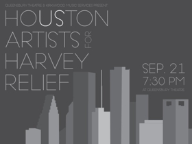 HOUSTON ARTISTS FOR HARVEY RELIEF Benefit Concert Tonight