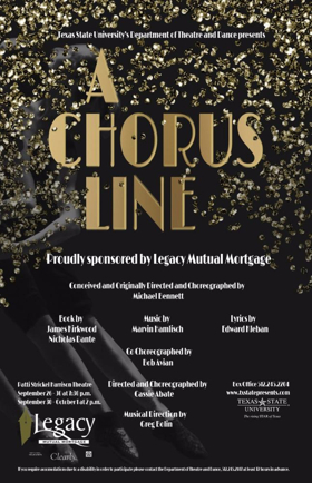 All Sales from Texas State's A CHORUS LINE to Go to Student Scholarships