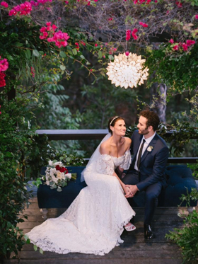 Photo Flash: Idina Menzel and Aaron Lohr Tie the Knot
