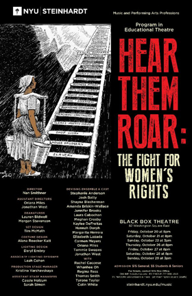 NYU Steinhardt to Stage 'HEAR THEM ROAR' to Commemorate 100 Years of Women's Suffrage in NY