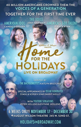 Candice Glover, Josh Kaufman and Bianca Ryan to Head HOME FOR THE HOLIDAYS on Broadway
